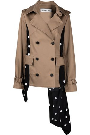 MONSE Contrast-panel trench jacket