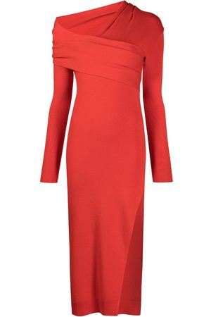 MONSE Wrap-collar knitted dress