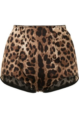 Dolce & Gabbana Leopard-print high-waisted briefs