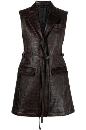 Peter Do Crocodile-embossed leather waistcoat