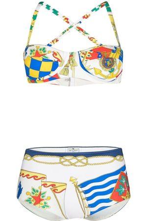 Etro Tassel-print bikini set