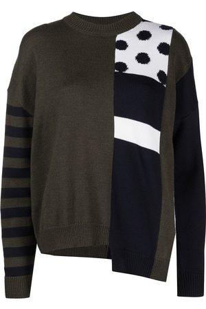 MONSE Intarsia knit wool jumper