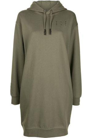 McQ Logo-detail hoodie dress