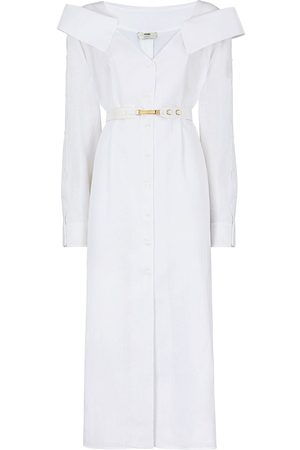 Fendi Shirt mid-length linen dress