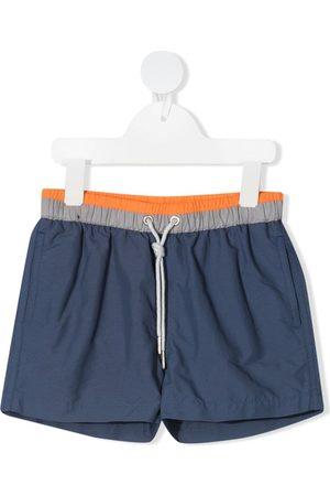 KNOT Boys Swimming Briefs - Stripe-panelled swim shorts