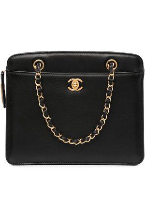 CHANEL CC turn-lock chain tote bag