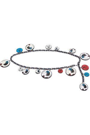CHANEL 2003 logo charms chain belt