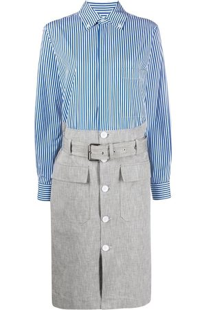 Plan C Stripe belted shirtdress