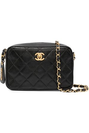 CHANEL 1995 diamond quilted CC camera bag