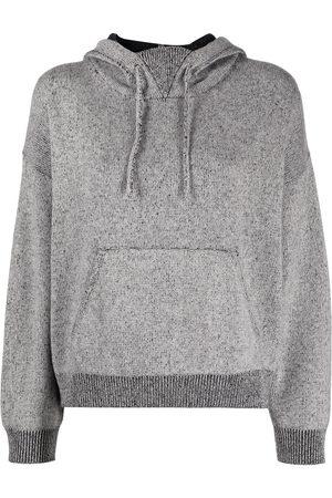 JOHN ELLIOTT Two-tone wool-blend knit hoodie