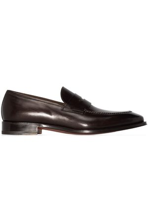 santoni Penny-slot slip-on loafers