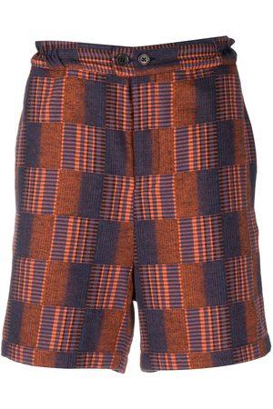 HENRIK VIBSKOV Check knee-length shorts