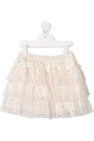 BONPOINT Floral embroidered skirt