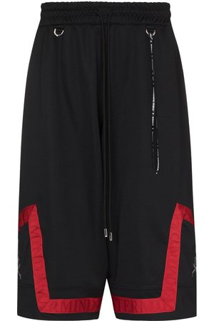 MASTERMIND JAPAN Wide-leg knee-length track shorts