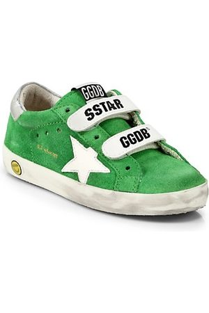 Golden Goose Girls School Shoes - Little Kid's and Kid's Old School Suede Sneakers