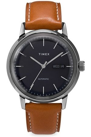 Timex Men Watches - Marlin® Automatic Leather Strap Watch