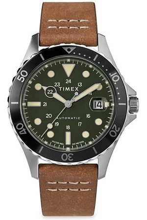 Timex Navi XL Auto Leather Strap Watch