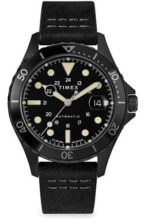 Timex Navi XL Automatic Leather Strap Watch