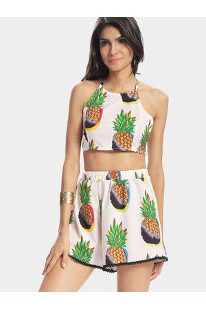 YOINS Crochet Lace Pineapple Pattern Backless Suit