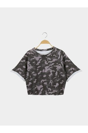 YOINS Women Crop Tops - Street Style Crop Top With Camouflage Pattern