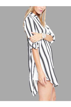 YOINS Classical Stripe Chiffon Long Sleeves Shirt