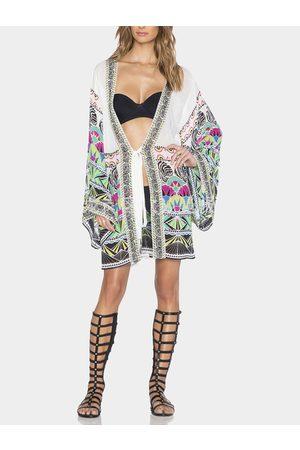 YOINS Self-tie Kimono in Geometrical Pattern