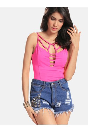 YOINS Rose Cami Top with Cut Out Details