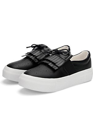 YOINS Leather Look Slip-on Casual Loafers with Tassel Detail