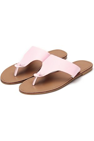 YOINS Leather Look Simple Style Toe Post Flat Slippers