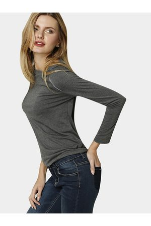 YOINS Women Long Sleeve - Asymmetric Zip Shoulder Jersey Tee