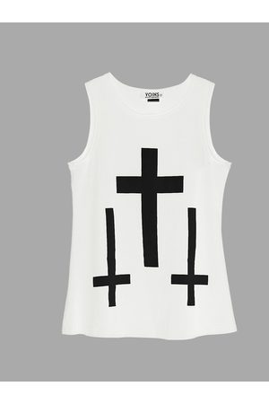 YOINS Tank Top with Cross Print
