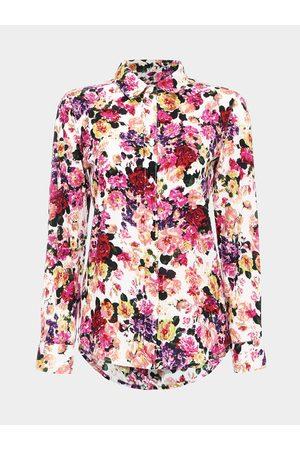 YOINS Long Sleeve Floral Print Shirt