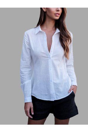 YOINS Fashion Hollow Back Self-tie Shirt