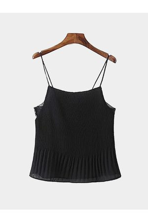 YOINS Lace Trim Pleated Cami in
