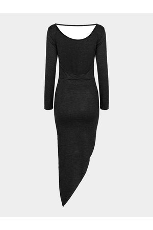 YOINS Asymmetric Party Dress With Cut Out Back