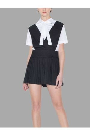 YOINS College Style Suspenders Mini Skirt