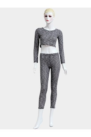 YOINS Round Neck Long Sleeves High-waisted Suits