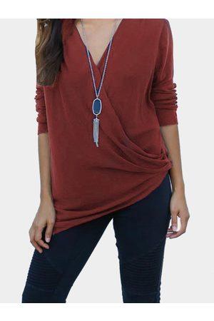 YOINS Fashion V-neck T-shirt