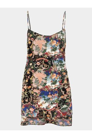 YOINS Floral Paisley Print Cami Top With Side Split