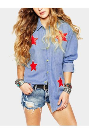 YOINS Star Pattern Casual Shirt In Street style
