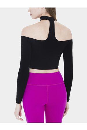 YOINS T-back Reversible Halter Long Sleeve Top