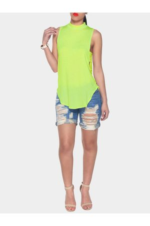 YOINS Halter Neck Cut Out Back Tank Top with Curved Hem