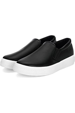 YOINS Leather Look Round Toe Slip-on Casual Loafers