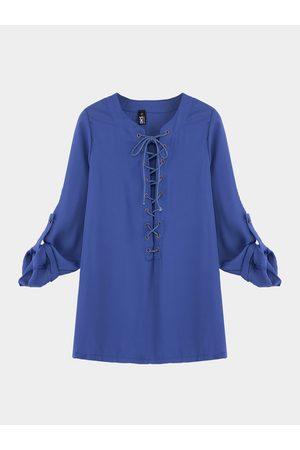 YOINS Lace-up Shirt
