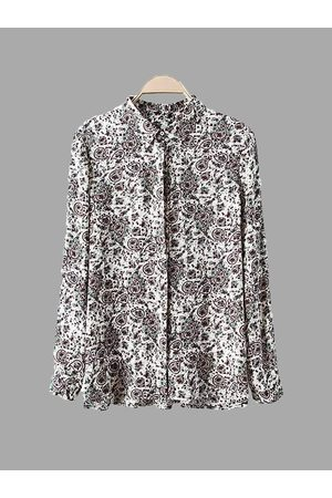 YOINS Paisley Print Long Sleeve Shirt