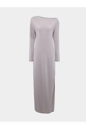 Yoins Women Asymmetrical Dresses - Long Sleeve Loose Fit Asymmetric Maxi Dress