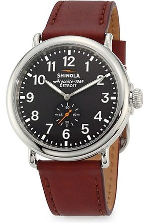 Shinola Watches - Runwell Chronograph Stainless Steel Leather Strap Watch