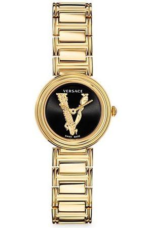 VERSACE Virtus Mini Goldtone Stainless Steel Bracelet Watch