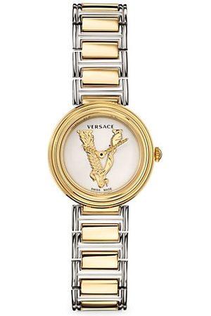 VERSACE Virtus Mini Two-Tone Stainless Steel Bracelet Watch