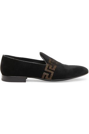 VERSACE Greca Embroidered Loafers